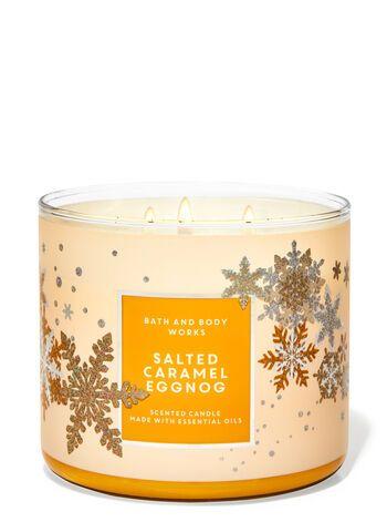 Bath & Body Works Salted Caramel Eggnog 3-Wick Can
