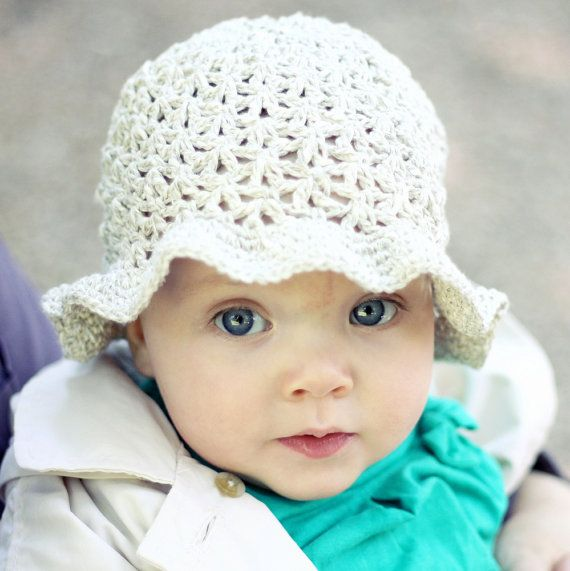 Crochet hat PATTERN - Summer Sun Hat (baby to adult) | Gorros ...