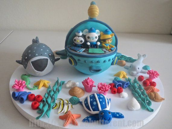Fondant Octonauts GUP A Inspired Cake Topper by LikeButter on Etsy