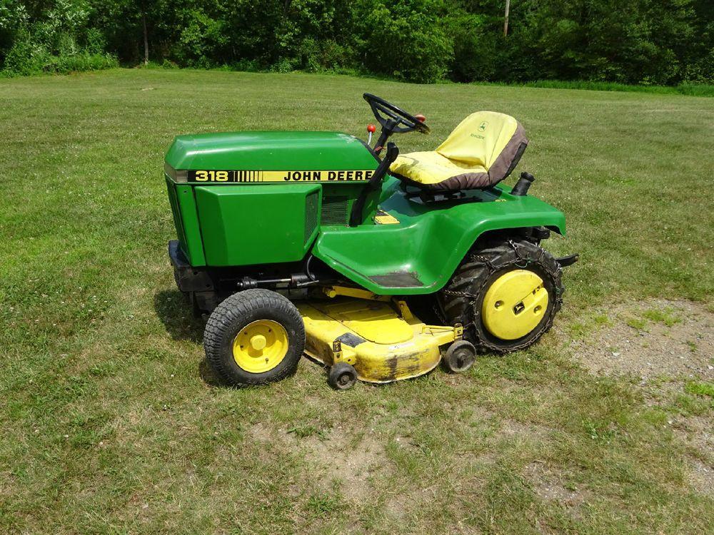 John Deere 318 Garden Tractor W 50 Mower Deck Rear Pto 3 Point Hitch 1150hrs Johndeere