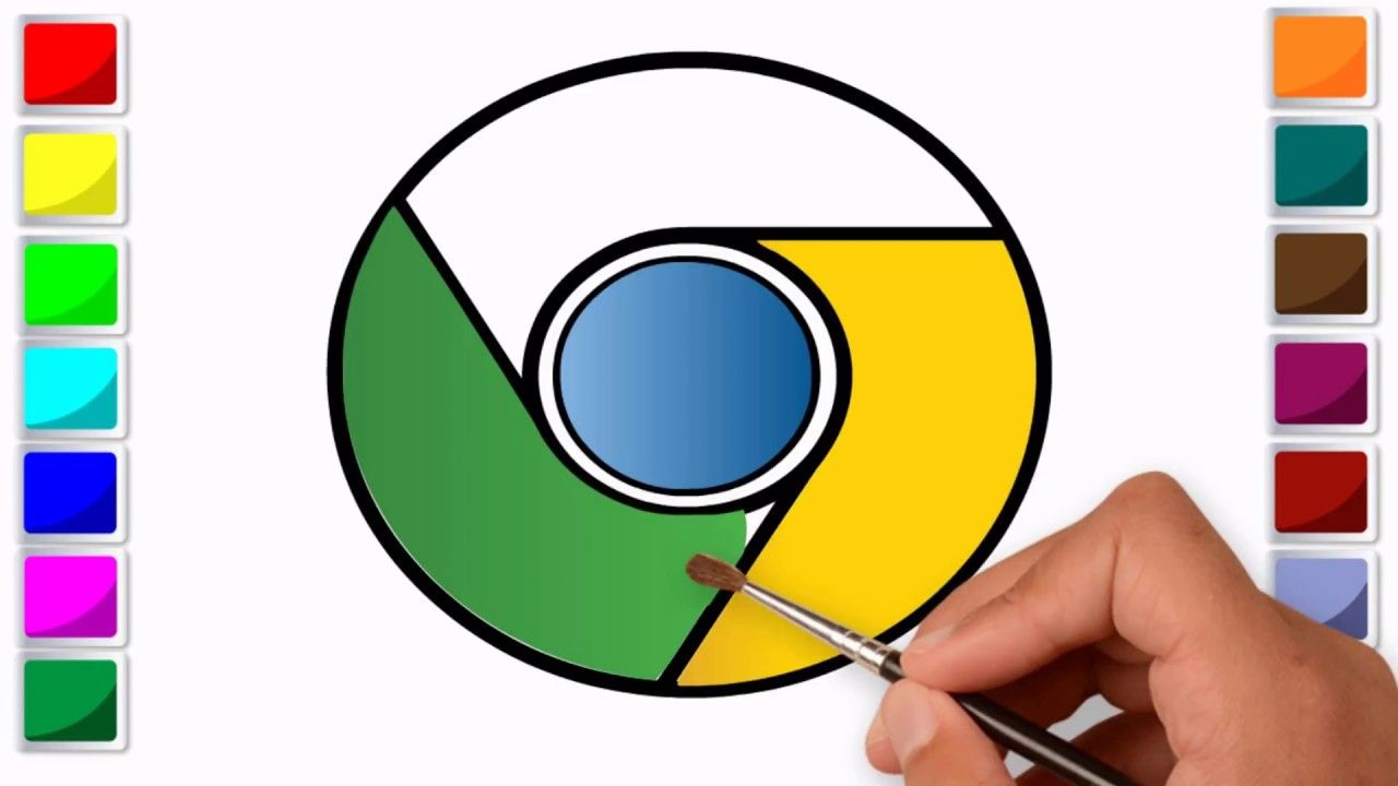 Coloring For Kids With Google Chrome Logo Colouring Book For Kids Coloring For Kids Coloring Books Google Chrome Logo