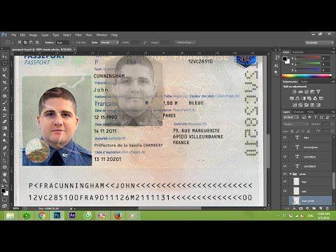 France Passport Template Psd ID FRANCE