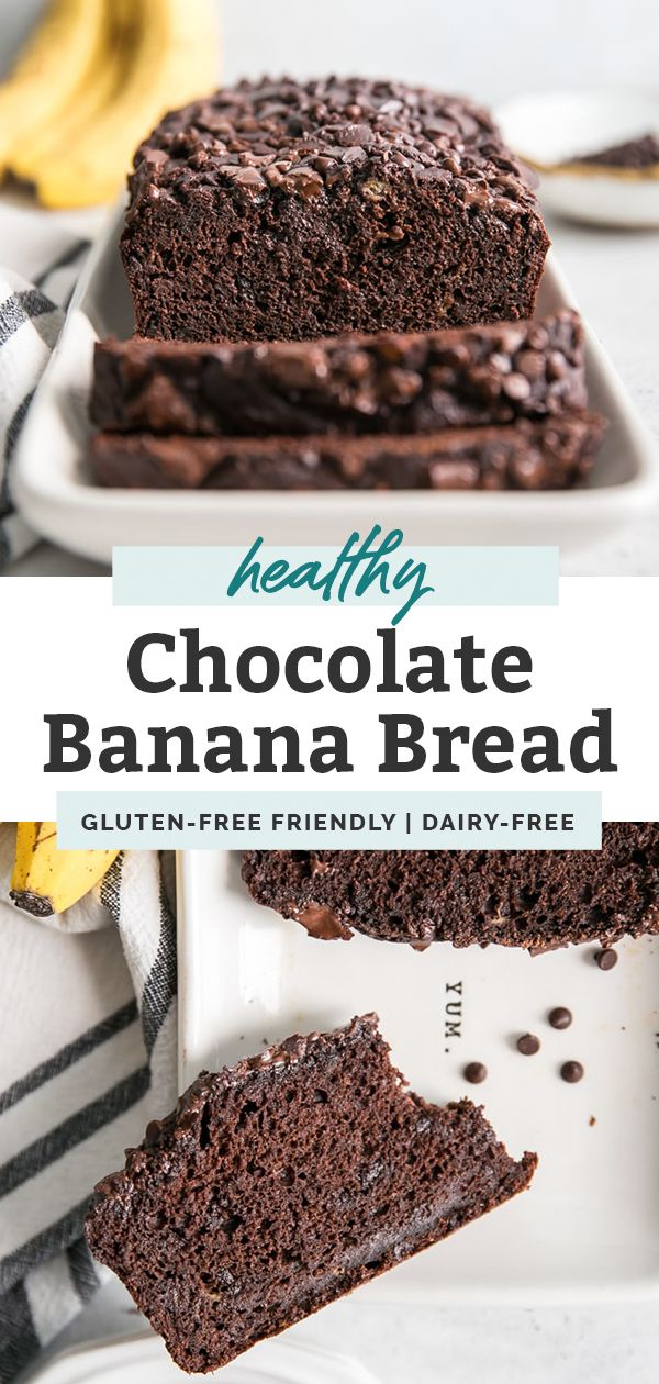 Healthy Double Chocolate Banana Bread • Fit Mitten Kitchen #flaxseedmealrecipes