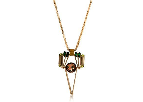 star simple green necklace, $235, Scho, luisaviaroma.com