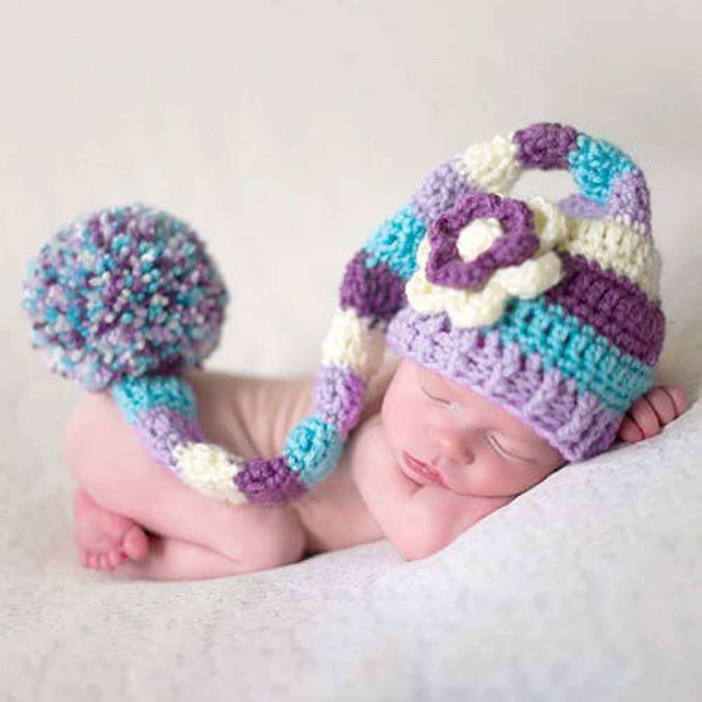 Newborn Baby Crochet Knit Clothes Girls Boys Photo Photography Prop Costume Hat