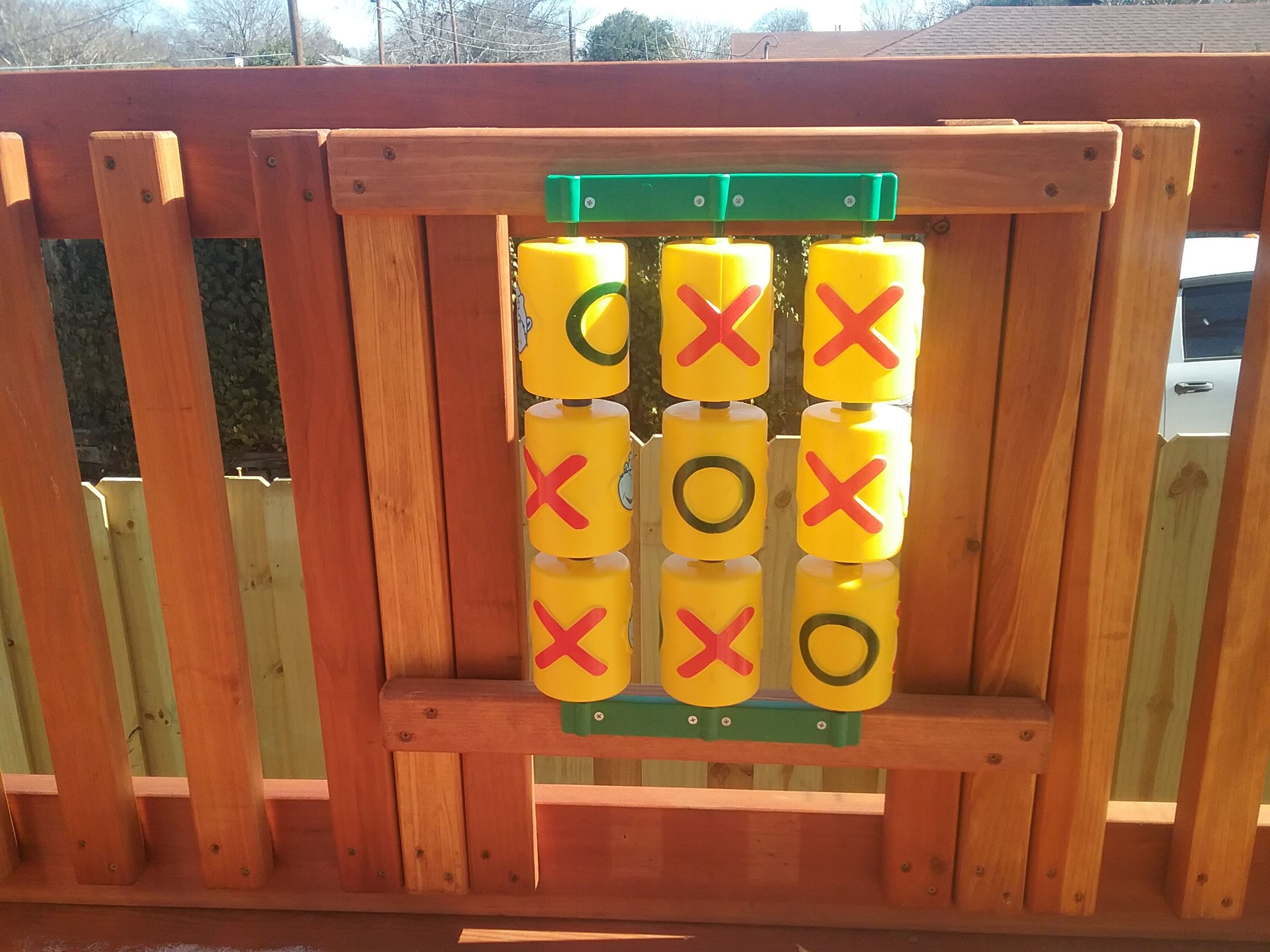 Accessorize Your Outdoor Playset Or Swing Set With This Tic Tac Toe