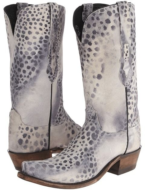 Lucchese cowboy boots.
