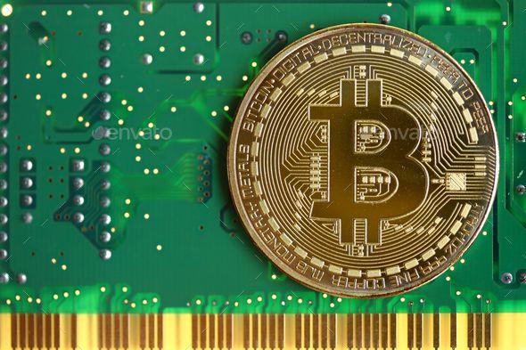 Bitcoin With Green Circuit Board Bitcoin What Is Bitcoin Mining Bitcoin Mining