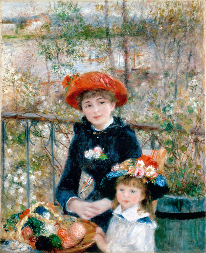 """Pierre Auguste Renoir """"Sulla terrazza"""" (""""The two sisters"""") 1881 Oil ..."""