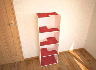 カラーボックスキャットタワーのイメージ