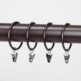 Rod Desyne 10 Pack 2 In Cocoa Steel Curtain Rings 1929 07