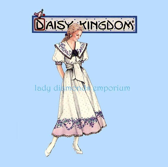 Simplicity 8874 Daisy Kingdom Dress Full Skirt Puff Sleeve Wide ...