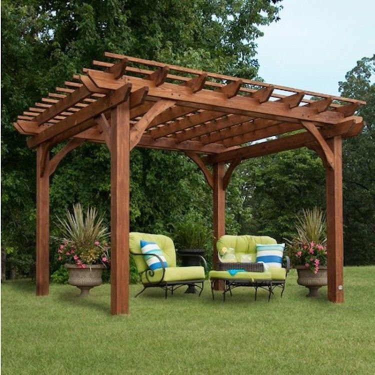 Pergola Sun Shade Kits 12 X 10 Canopy Outdoor Cedar Wood For Patio Furniture New Fortuneblissgardenstructuresshadeco Outdoor Pergola Backyard Pergola Backyard