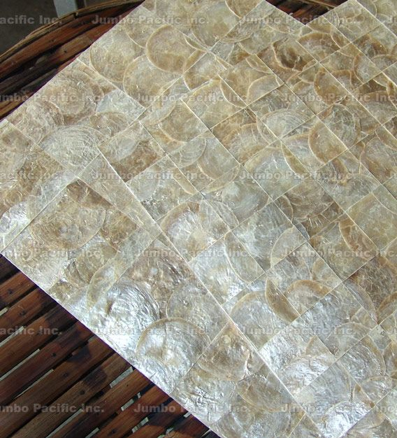 Shell Tiles Natural Color Capiz Panels Shell Tiles Tile Manufacturers Capiz