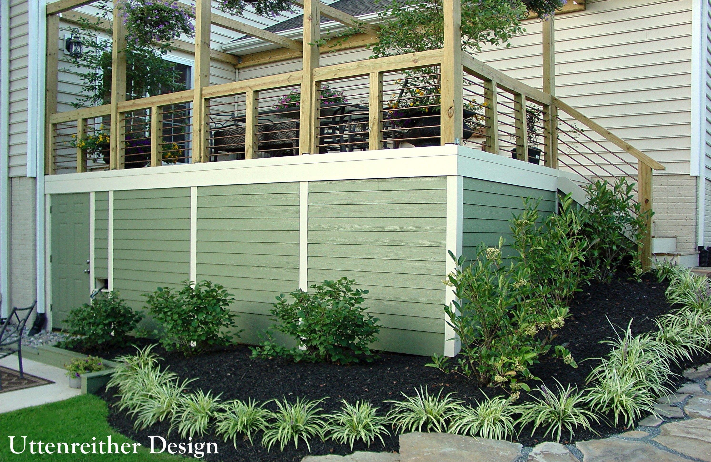 DIY deck design ideas, deck skirt ideas, under deck shed ...