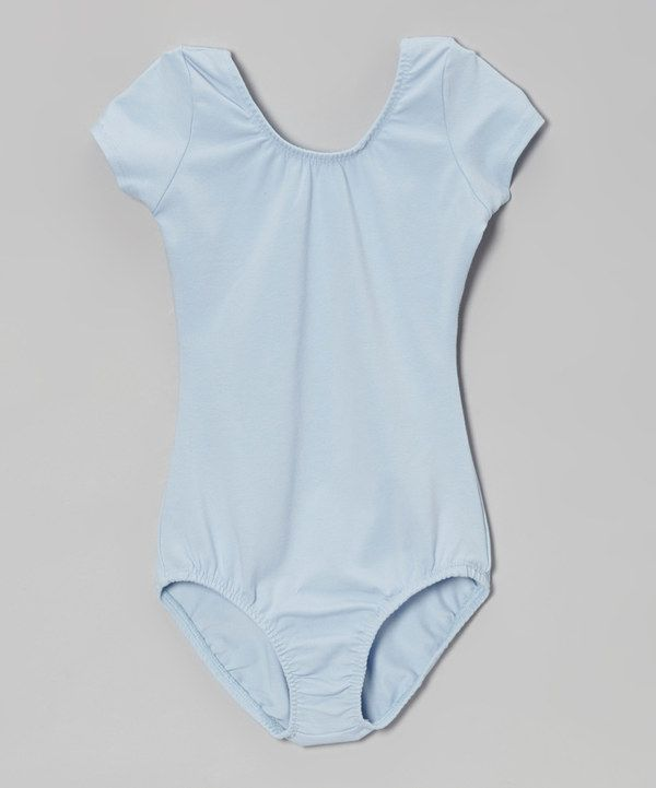 92a919df7f4b Look at this Light Blue Short-Sleeve Leotard - Toddler   Girls on ...