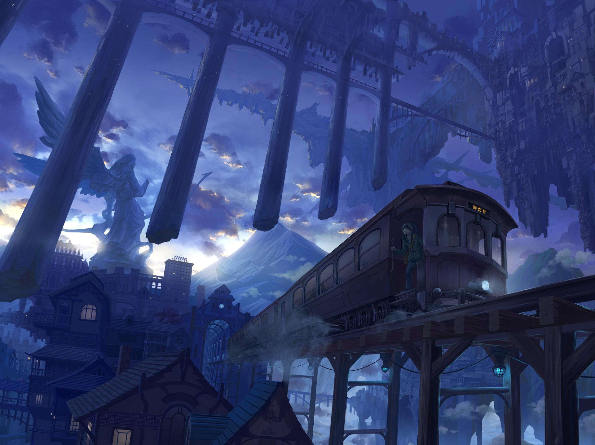 Anime Environment Concept Art