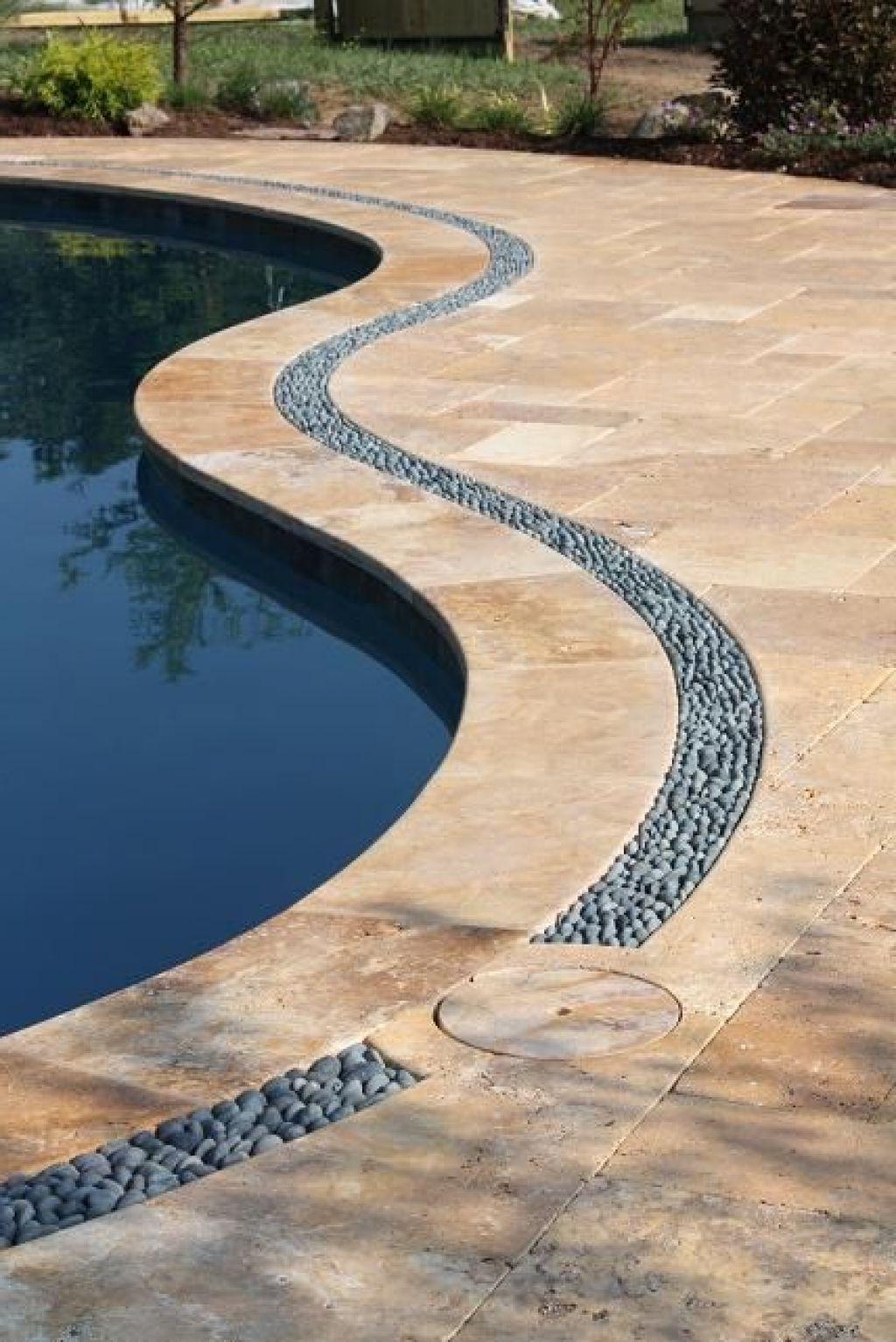 deck drain pool swimming pools backyard