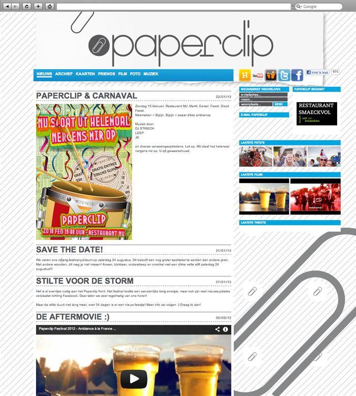 Klant: Paperclip. Gerealiseerd door Webbees: technische realisatie. www.paperclip.nu