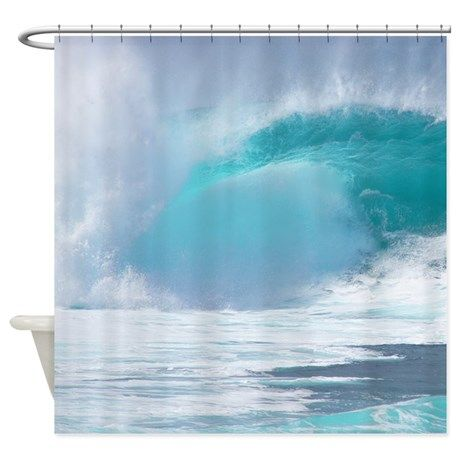 Hawaii Pipeline Surf Tropical Shower Curtain By