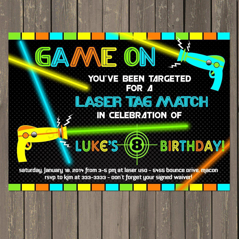 Einladung Kindergeburtstag Lasertag