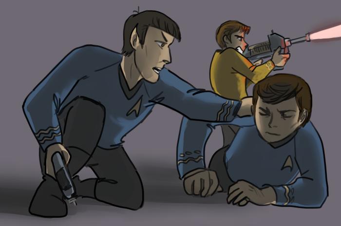 """"""" You alright, Doctor?"""" triumvirate fanart by jimsdeadbones"""