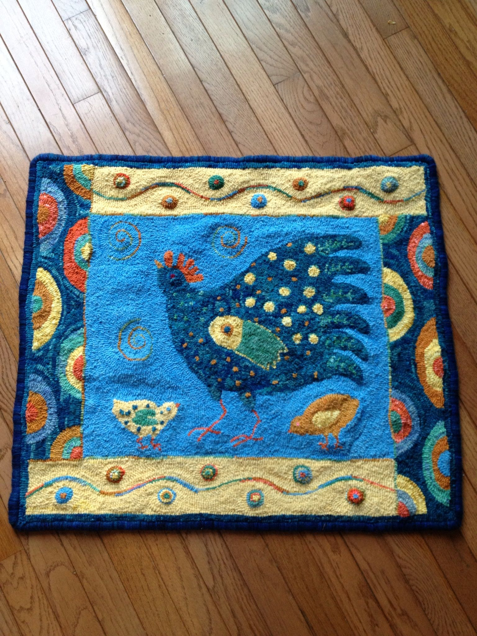 Margaret Shaw pattern, Hen & Chicks. I call it my French Provincial Hen. Completed 5/20/13.