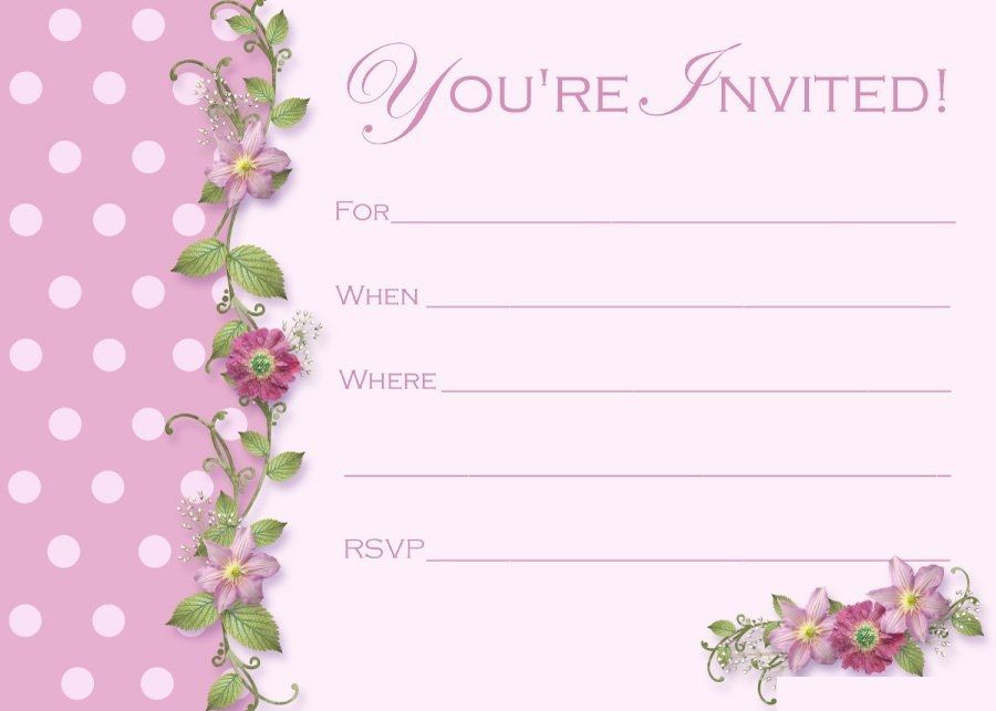 Printable Simple And Elegant Invitation Template In 2020 Free Birthday Invitations Free Printable Party Invitations Graduation Invitations Template