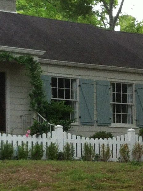 Board And Batten Shutters House Exterior Exterior House Colors Cottage Shutters