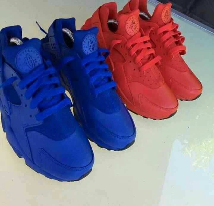 Nike shoes huarache, Nike huarache, Red