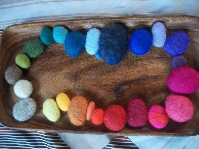 my felted rocks by Lyndilu, via Flickr