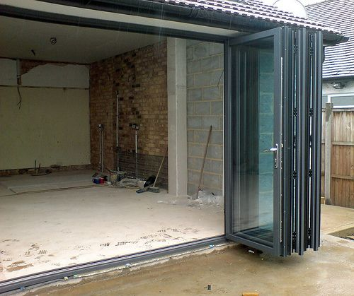 Aluminium External Folding Doors, Folding Sliding Doors, Concertina Doors, Patio  Door, Bi