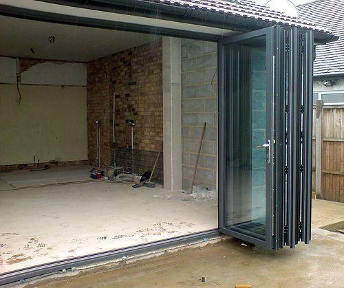 Bi Folding Garage Door: Aluminium External Folding Doors, Folding Sliding Doors