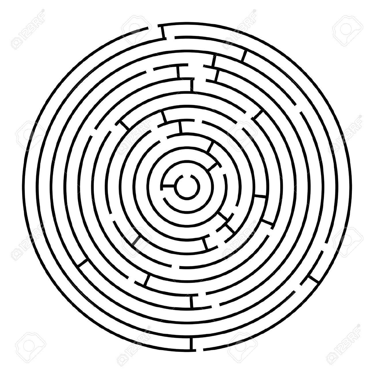 Laberinto Circular Vector