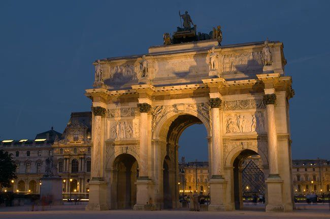 Arc De Triomphe Du Carrousel At Night Places To Go Culture