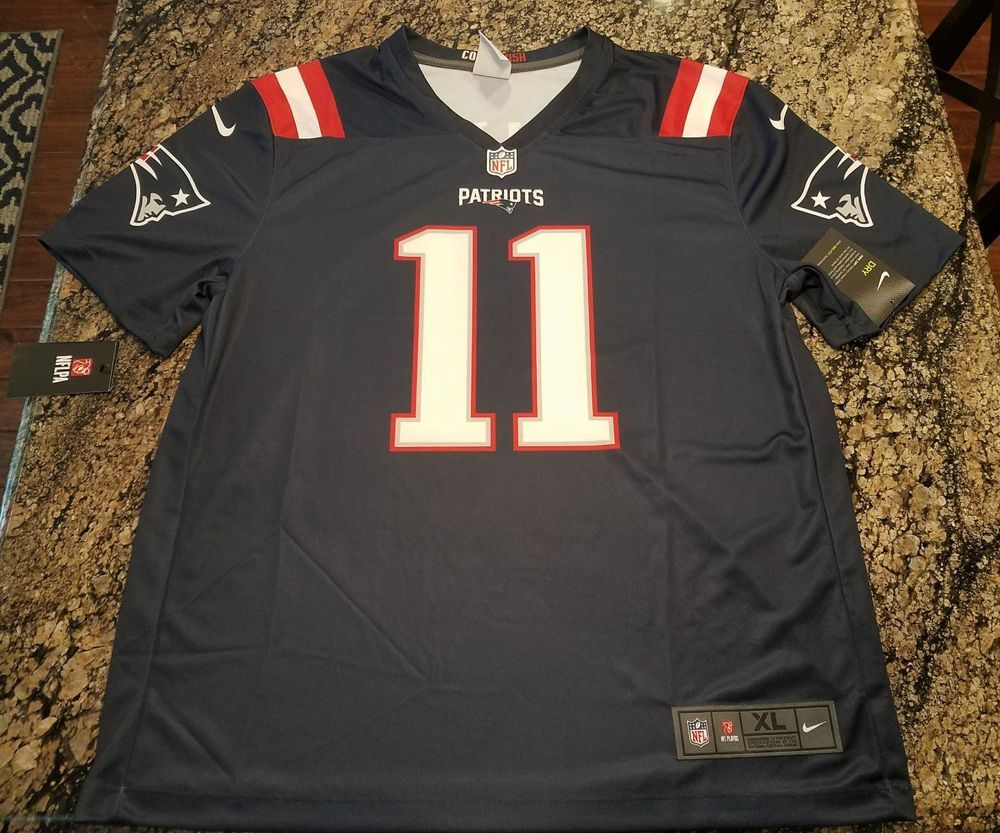 949362a3bd9 Nike New England Patriots Edelman #11 Color Rush Legend Jersey XL 821810  420 #Nike #NewEnglandPatriots