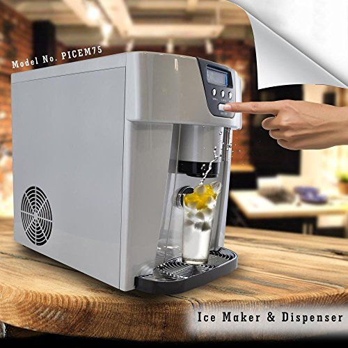 Nutrichef Picem75 Countertop Ice Maker Dispenser Silver Ice Maker Portable Ice Maker Ice Maker Machine