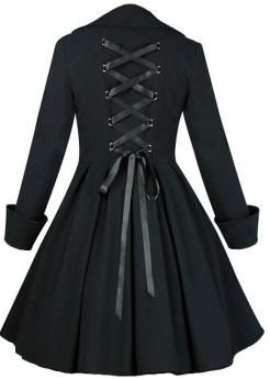 corset back flare coat with images  fashion types of