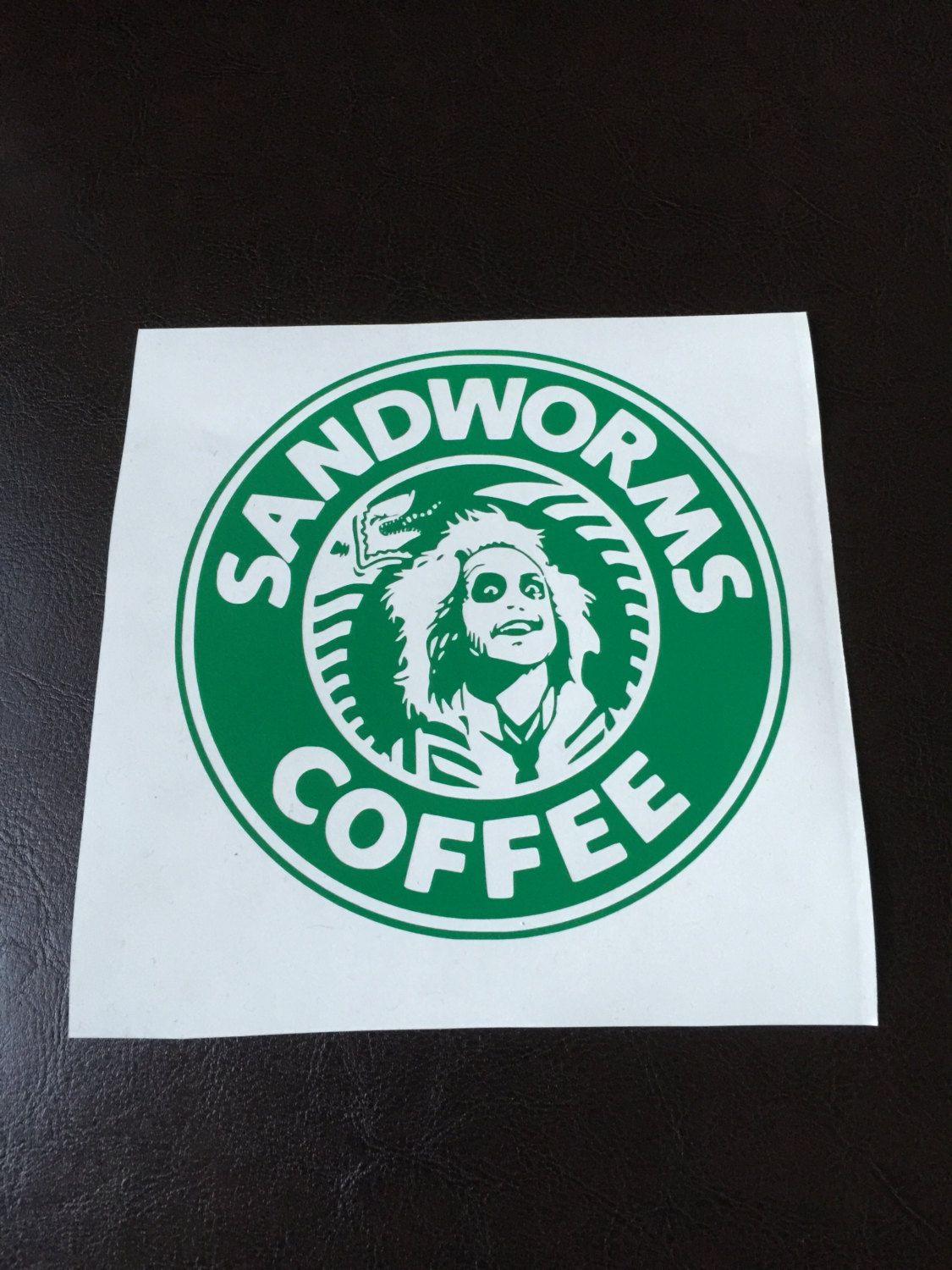 Sandworms Coffee Decal Starbucks Beetlejuice Coffee Decal Beetlejuice Vinyl Decals