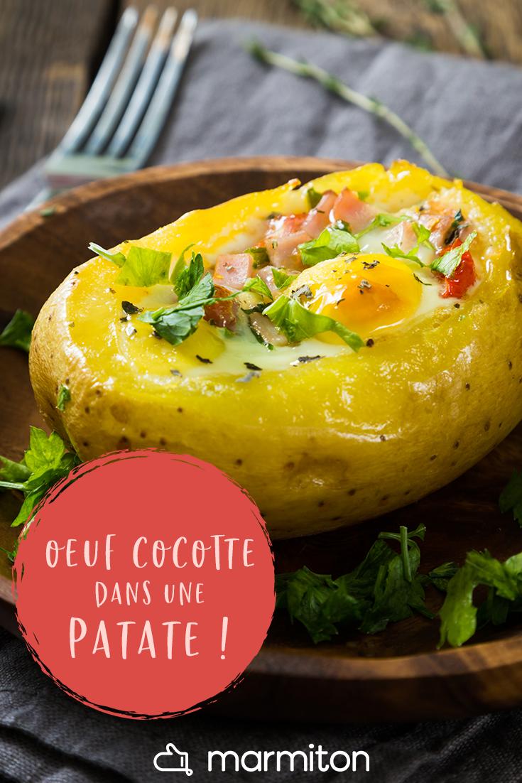 Oeuf Cocotte En Pomme De Terre Recette Recettes De Cuisine Oeufs Cocotte Recette Plat Facile