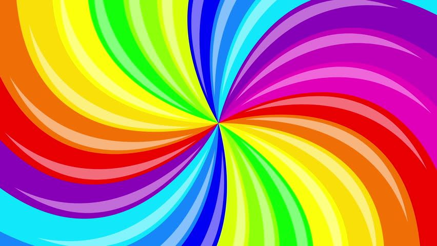 Colorful Background Rainbow That Rotating Spiral 2d Animation Colorful Backgrounds Color Rainbow