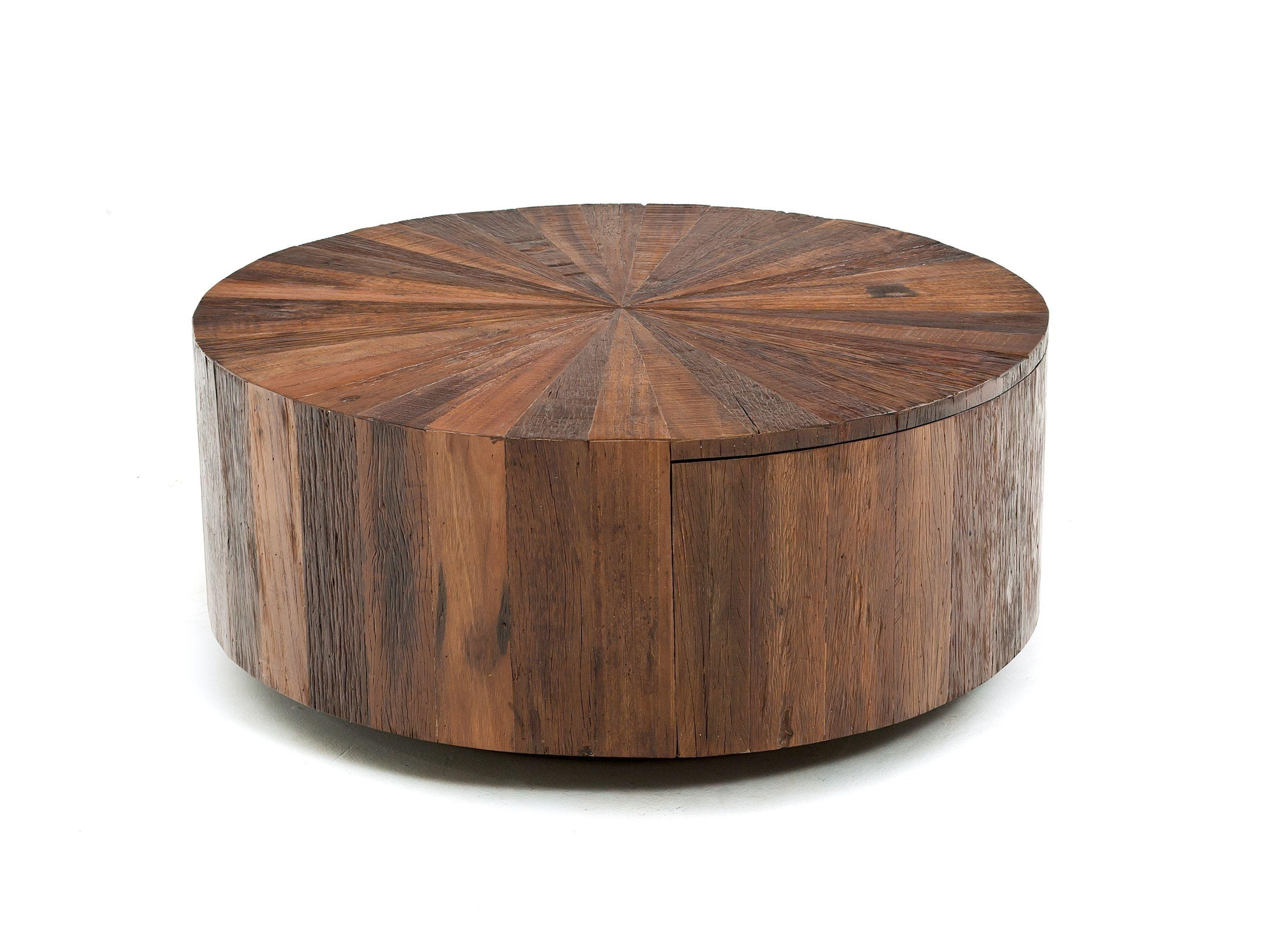 Round Rustic Chic Coffee Table With Drawer Wood Coffee Table Rustic Chic Coffee Table Coffee Table [ 2427 x 3244 Pixel ]