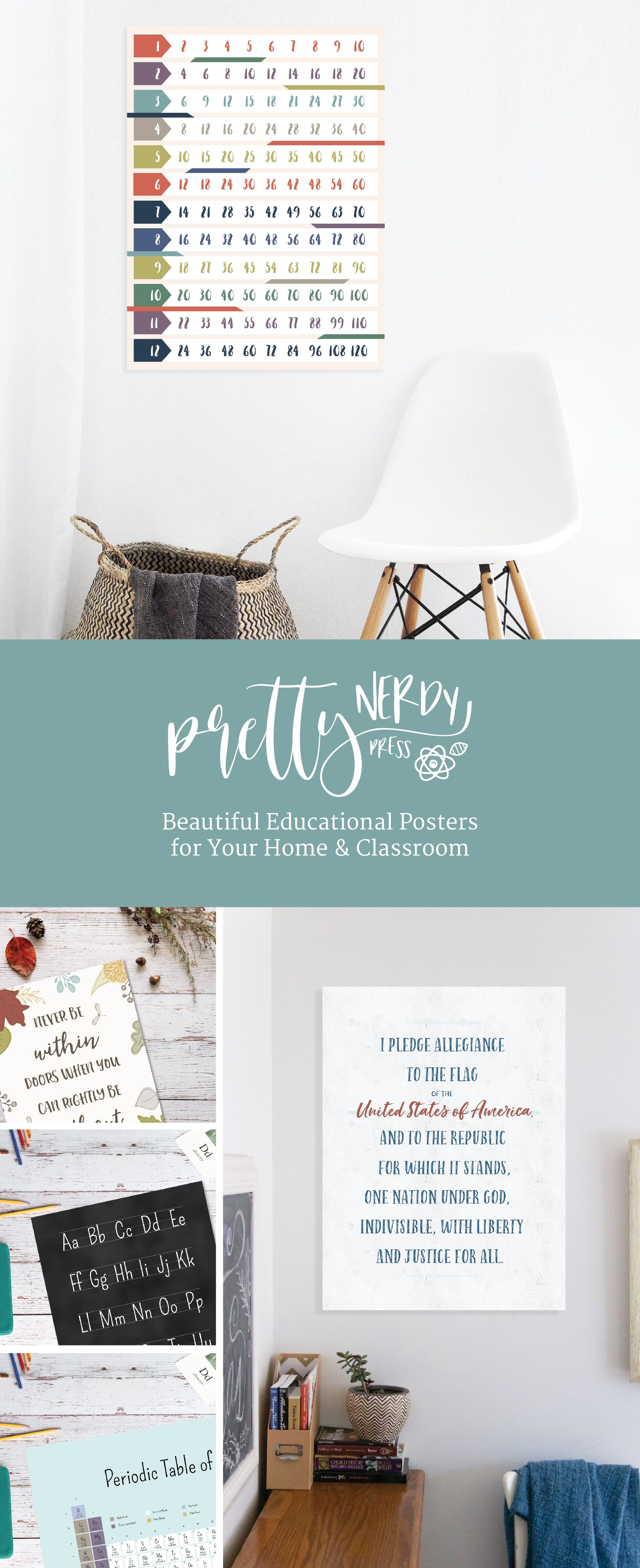 Beautiful Educational Posters for your Home & Classroom | Pretty ...