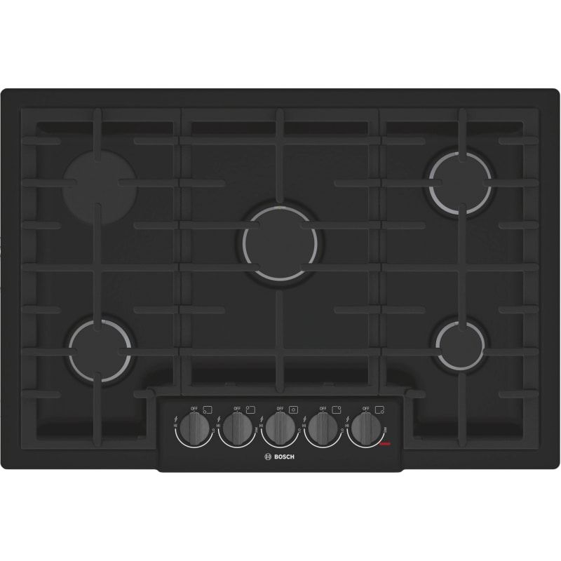 Bosch NGM8646UC 800 Series 36 Inch Wide Built-In Gas Cooktop with 5 Sealed Burne Black