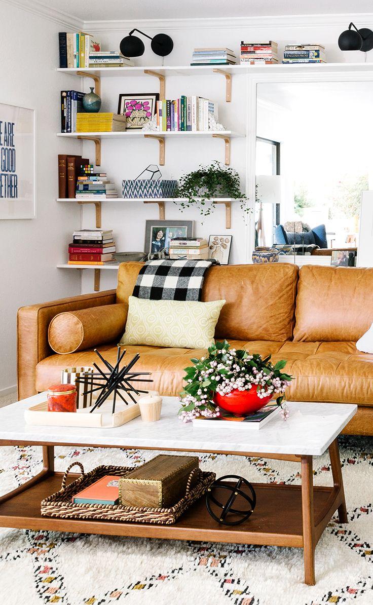 Tan Brown Leather Sofa Italian Leather Article Sven Modern  ~ Tan Sofa Decorating Ideas