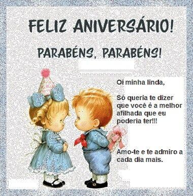 Afilhada Feliz Aniversario