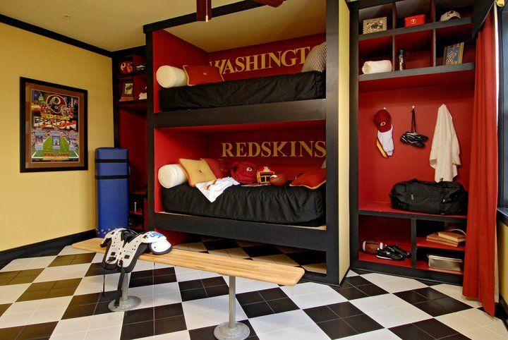 Redskins Room Football Rooms Themed Kids Room Football