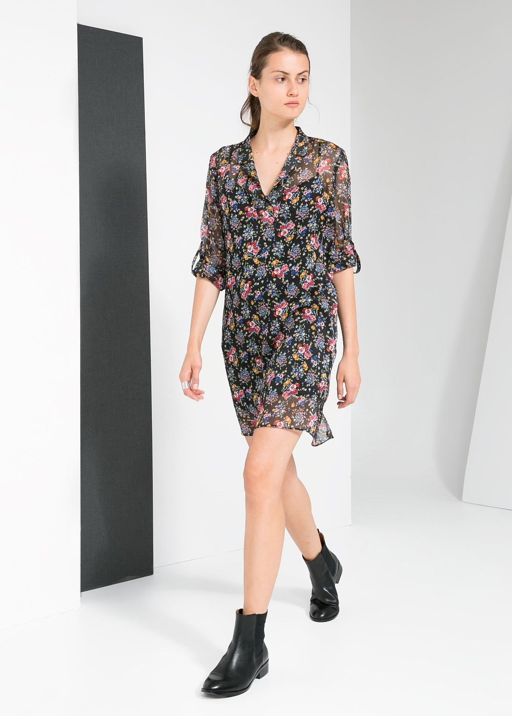 Free Shipping Release Dates MANGO Floral chiffon dress Wide Range Of Cheap Online Cheap Sale High Quality thSQg