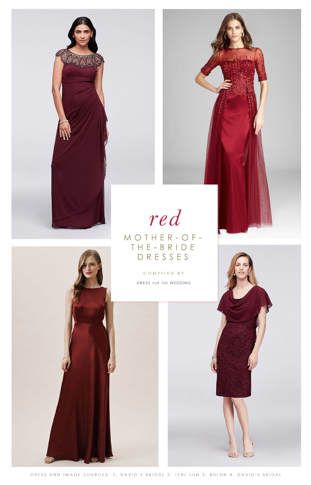 e2808bbb863 Burgundy and Red Mother of the Bride Dresses. Where to find and shop red