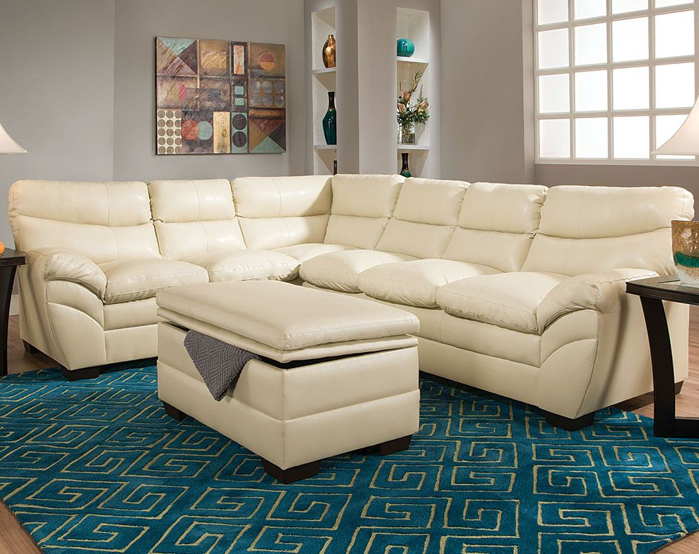 Cream Wrap Around Couch Soho Natural Two Piece Sectional